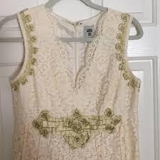 70 off anna sui dresses u0026 skirts anna sui cream lace shift