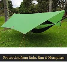 goroam outdoors camping hammock with mosquito net and rainfly hex