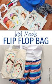 flip flop bag easy diy tote bag from your kids flip flops day family