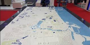 world map city in dubai 3d printed dubai 3 x 2 meter model of the city is 3d printed