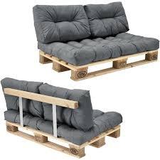 rembourrage canapé canapé d angle en palettes coussin gris 2 places avec palettes