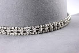 rhinestone bands 3 row large sterling rhinestone cowboy hat band
