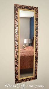 Bathroom Mirror Ideas Diy by Best 25 Tile Mirror Ideas Only On Pinterest Wall Mounted