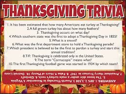 thanksgiving trivia jamestown gazette