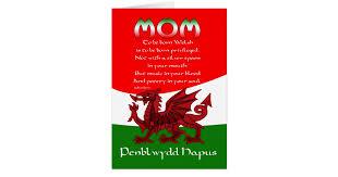 welsh mom birthday card poem by brian harris zazzle com