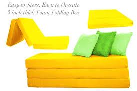 Foam Folding Bed Tri Fold Foam Beds Folding Bed Yellow The Futon Shop Canada
