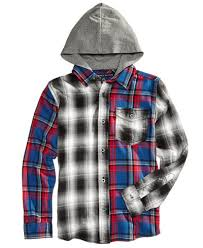 hilfiger plaid flannel hooded shirt toddler boys 2t 5t