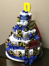 superhero batman superman justice league diaper cake letter d for