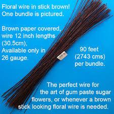 brown floral wire brown floral wire 26 world of sugar