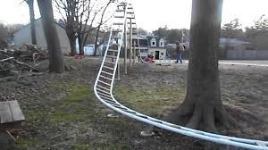 home made backyard roller coasters youtube