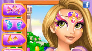 rapunzel face painting play games