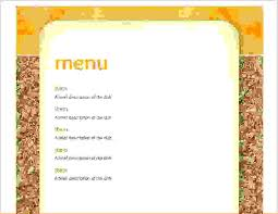 lunch menu template free 6 school lunch menu template procedure template sle