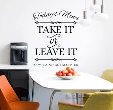 mesmerizing kitchen with wall quotes decals combined neutral wall author