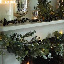 eucalyptus and white berry garland christmas decorations the
