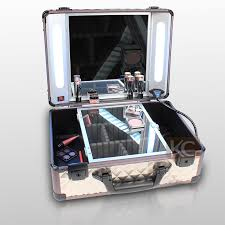 rolling makeup case with lighted mirror lighting rolling makeup case with light mirror buy rolling makeup