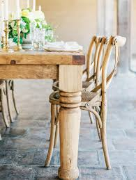 wooden tables for rent botanica specialty rentals