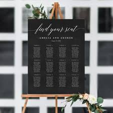7 sizes editable wedding seating chart template pdf instant