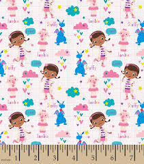 doc mcstuffins wrapping paper disney doc mcstuffins cotton fabric 44 scrubs joann