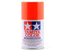 ps 7 orange lexan spray paint 3oz by tamiya tam86007 cars