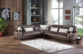 Leather Sectional With Chaise And Ottoman Furniture Brown Leather Microfiber Sectional Brown Cloth