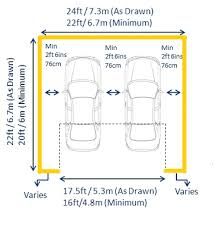 garage dimensions standard garage dimensions and measurements by length width and