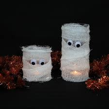 halloween decoration mummy mummy mummy candle halloween