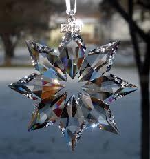 swarovski crystal star snowflake 2013 christmas ornament new in