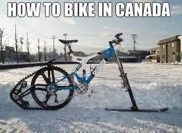 Bike Meme - funny a canadian bike joke