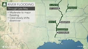 United States Map With Rivers by Flooding To Threaten Lives Property In Central Us Through End Of May