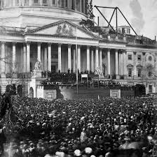 picture of inauguration crowd first inauguration of abraham lincoln wikipedia