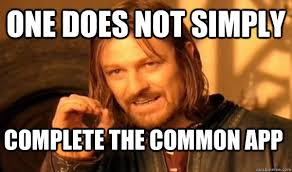 Quick Meme App - one does not simply complete the common app one does not simply