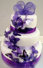 wedding cakes designs purple wedding cakes designs combination of white and purple