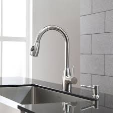 kitchen design brushed nickel kitchen faucet with two handles and