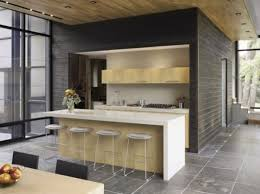 minimalist kitchen ideas with natural wall designed and ceramic