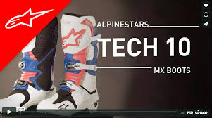 motocross boots size 10 tech 10 boot alpinestars