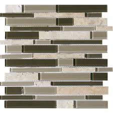 Home Depot Wall Tile Fireplace by Ms International Metallica Interlocking 12 In X 12 In X 6 Mm