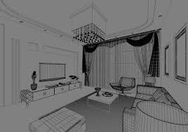 image description dwelling house black and white cartoon living