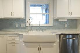 white kitchen with stainless steel backsplash gloss wall tiles