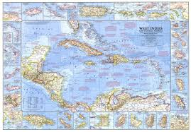 Map Of West Indies 1970 West Indies And Central America Map Historical Maps