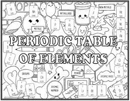 periodic table science book periodic table of elements seek and find science doodle page by ezpz
