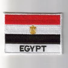 Image Of Flag Of Egypt Embroidered Patches Country Flag Egypt Patches Iron On Badges