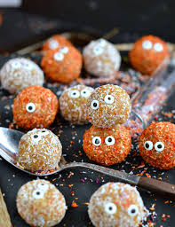 Halloween Treats And Snacks Apricot Balls Healthy Halloween Treats Recipe Healthy