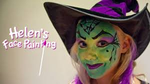 halloween witch face paint tutorial children u0027s face paint witch