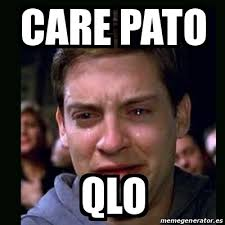 meme crying peter parker care pato qlo 27009947