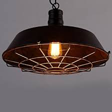 Bar Light Fixtures Baycheer Hl371403 Industrial Vintage Style Iron Shade Cage