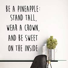 be a pineapple quote wall stickers by parkins interiors be a pineapple quote wall stickers