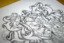 heraldic shield tattoo design dark design graphics graphic