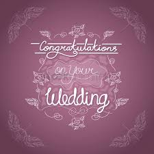 congratulations on wedding card congratulations on your wedding card vector image 1707652