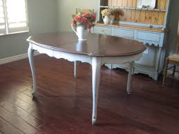 Repurpose Dining Room by Painted White Distressed Kitchen Tables Euro European Paint