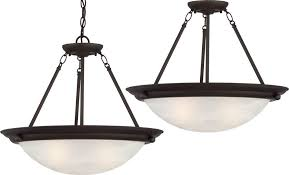 Semi Flush Pendant Lighting Lunar 3 Light Antique Bronze Pendant Or Semi Flush Ceiling Mount